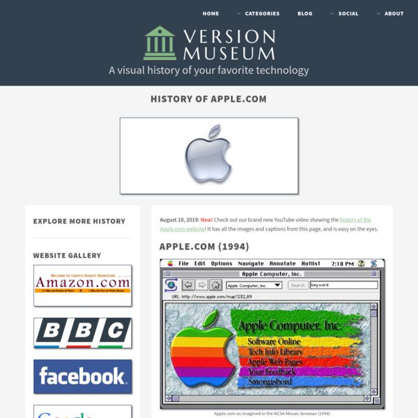25 Years of Apple.com Website Design History - 39 Images - Version Museum