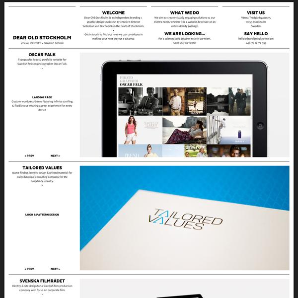 Dear Old Stockholm | visual identity + graphic design