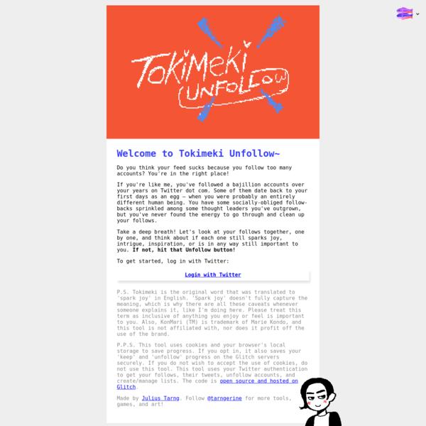 Tokimeki Unfollow ✨ KonMari your Twitter