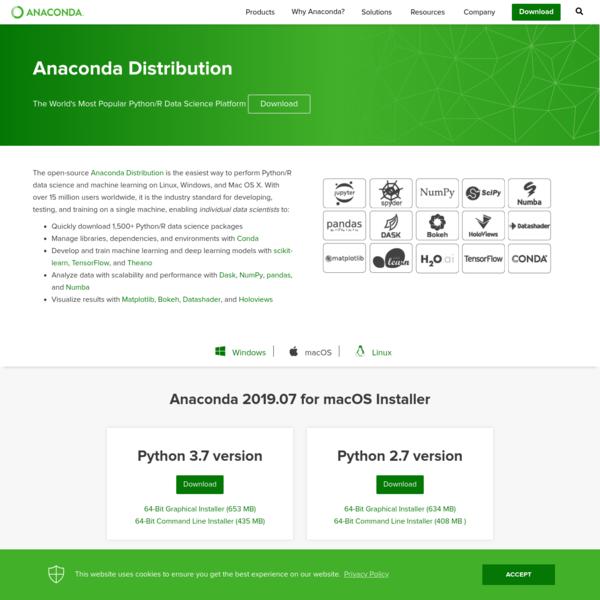 Anaconda Python/R Distribution - Free Download