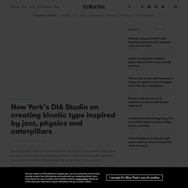 New York's DIA Studio on creating kinetic type inspired by jazz, physics and caterpillars