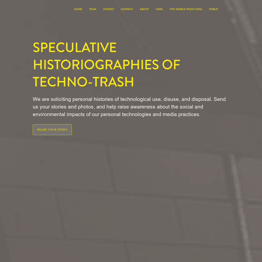 Techno-Trash is a research project initiated by Mél Hogan and Andrea Zeffiro. As the project evolves, the research team will expand to include a network of scholars, activists, artists, and practitioners invested in topics that intersect the perils of technological waste.