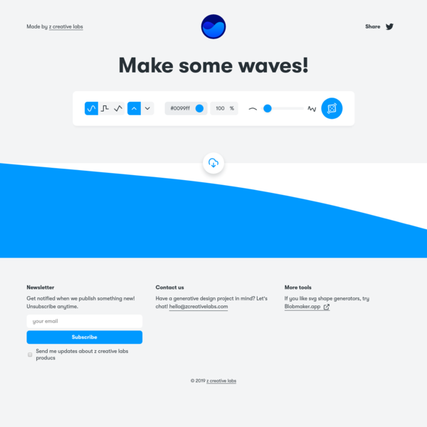 Get Waves - Generate SVG waves for your designs