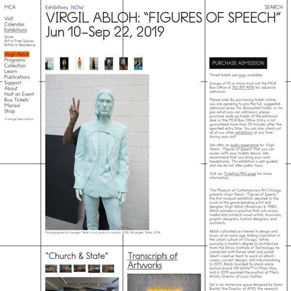 "Virgil Abloh: ""Figures of Speech"""