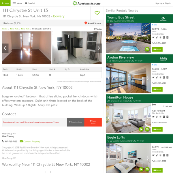 111 Chrystie St Unit 13, New York, NY 10002 - Apartment for Rent in New York, NY | Apartments.com