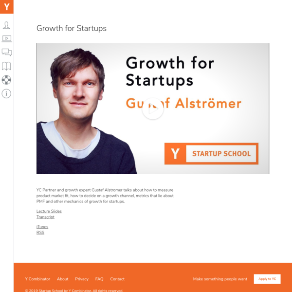 Growth for Startups