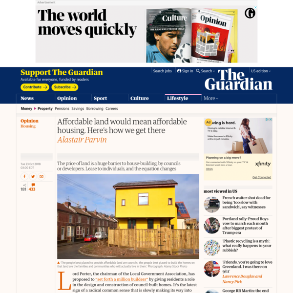 Affordable land would mean affordable housing. Here's how we get there | Alastair Parvin