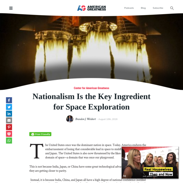 Nationalism Is the Key Ingredient for Space Exploration