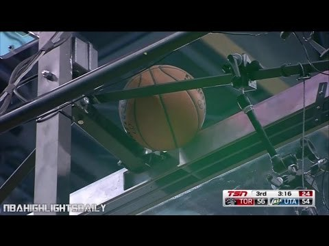 HILARIOUS Ball Gets Stuck During Game | Raptors vs Jazz | 11.18.2015
