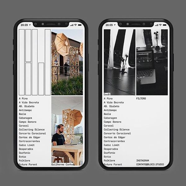"""Reposting @sometimes__always:⠀ ...⠀ """"Mobile version of @bloco.studio website. Designed by us, coded by @fluxo_design ⠀ ⠀ #..."""