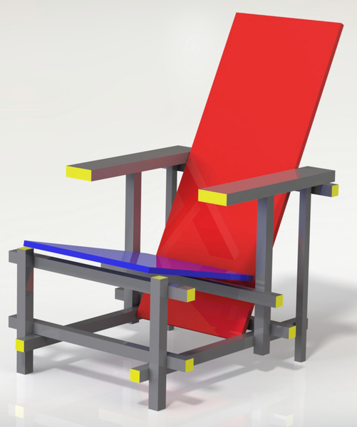 Red/Blue Chair