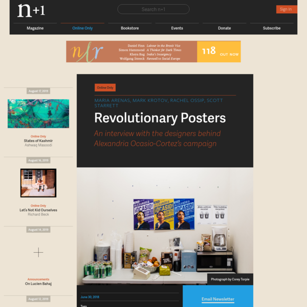 Revolutionary Posters | Online Only | n+1