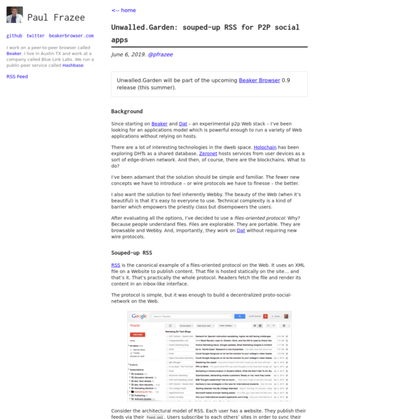 Unwalled.Garden: souped-up RSS for P2P social apps