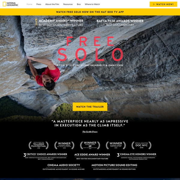 Free Solo, a National Geographic Movie