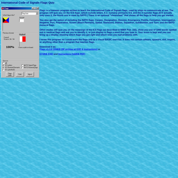Maritime Flags Quiz