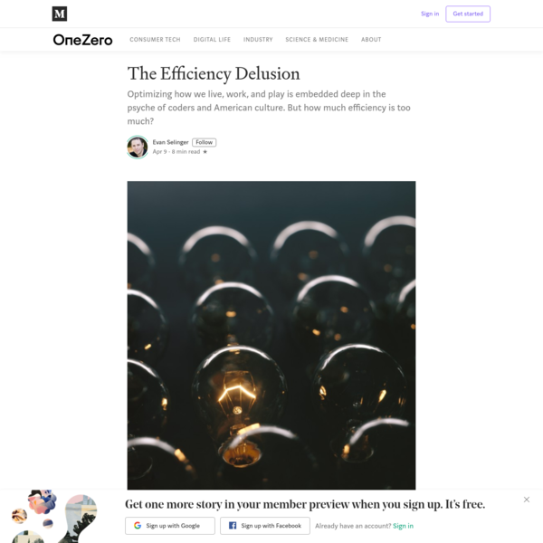 The Efficiency Delusion