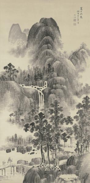 Mountain Stream on a Summer Day, Nakabayashi Chikutō, ca. 19th century
