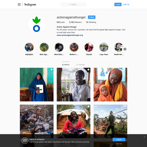 action against hunger insta