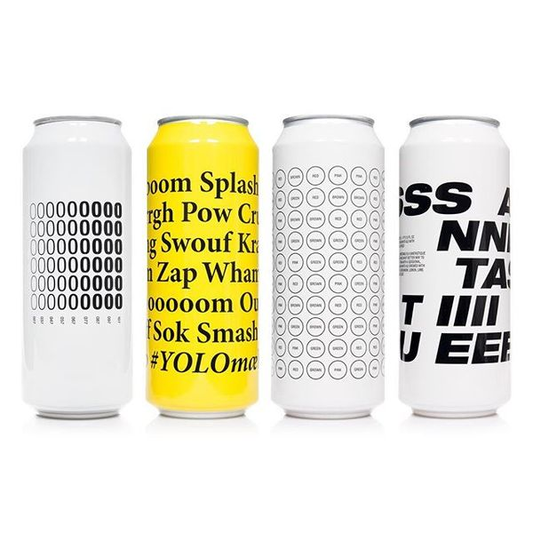 Various typography based can designs. @toolbeer #toøl #toolbeer #design #graphicdesign #beercan #packaging #packagingdesign ...