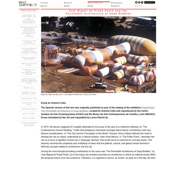 José Miguel de Prada Poole and the Perishable Architecture of Soap Bubbles