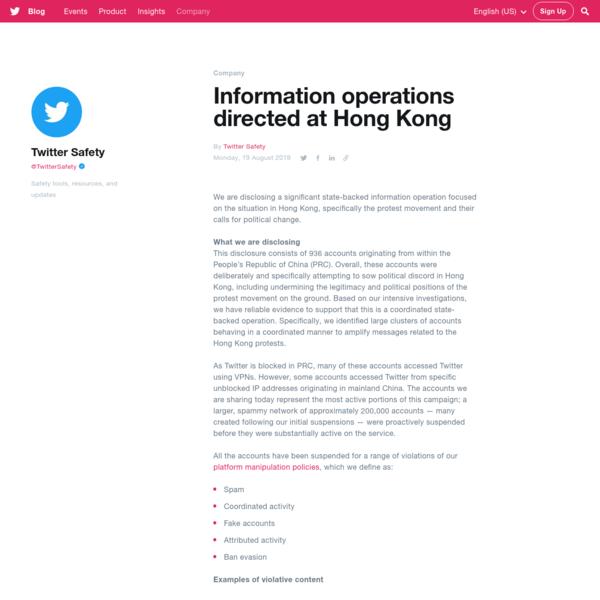 Sock puppet operations directed at Hong Kong