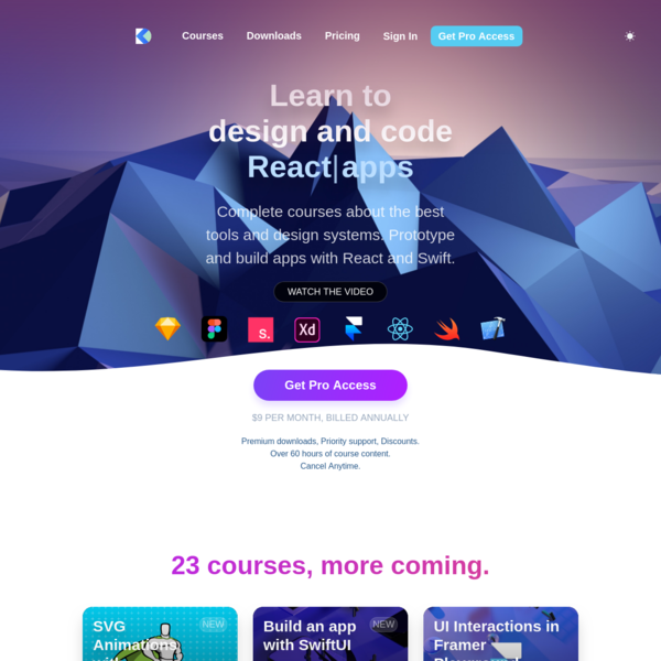 Design+Code - Learn to design and code React and Swift apps