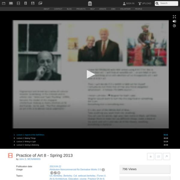 Practice of Art 8 - Spring 2013 : John S. MCNAMARA : Free Download, Borrow, and Streaming : Internet Archive