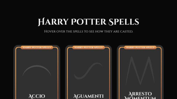 Harry Potter Spells (with SVG Animation)