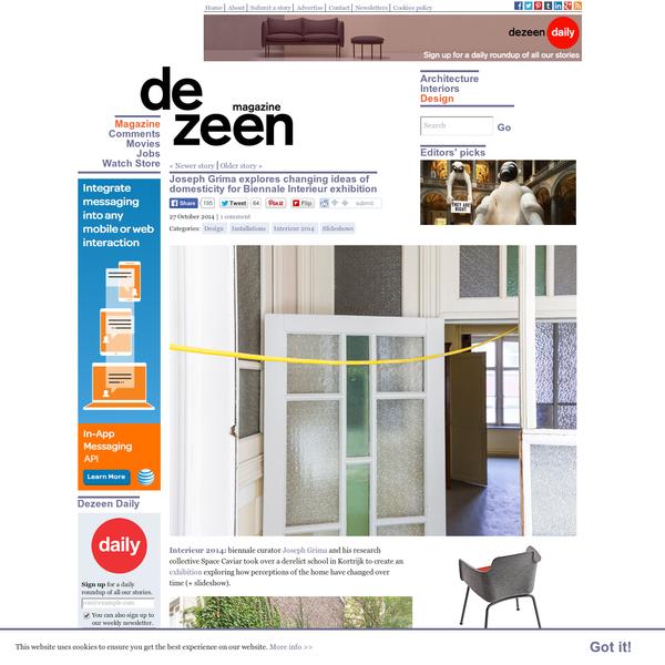Joseph Grima explores changing ideas of domesticity at Interieur 2014