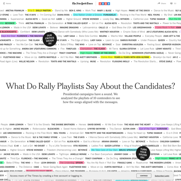 What Do Rally Playlists Say About the Candidates?