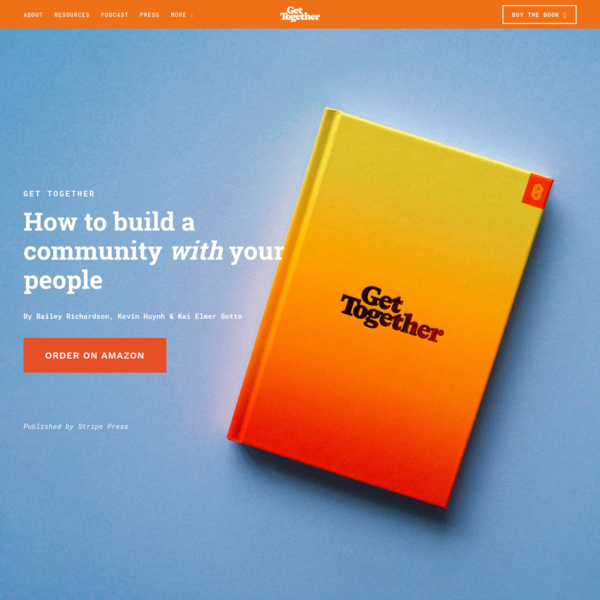 Get Together Book | How to Build a Community With Your People