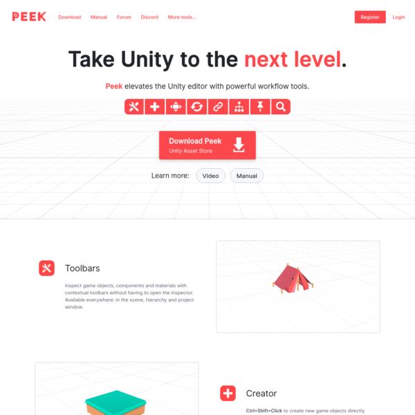 Peek: Workflow Tools for Unity