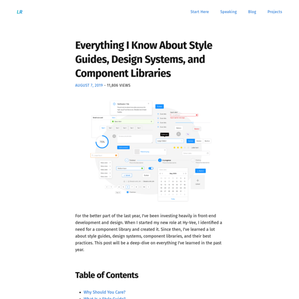 Everything I Know About Style Guides, Design Systems, and Component Libraries - Lee Robinson