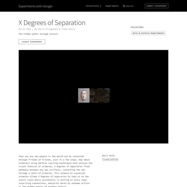 X Degrees of Separation by Mario Klingemann & Simon Doury | Experiments with Google