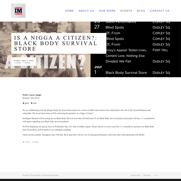 Is a Nigga a Citizen?: Black Body Survival Store