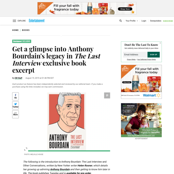 Exclusive: Get a glimpse into Anthony Bourdain's legacy in 'The Last Interview' book excerpt