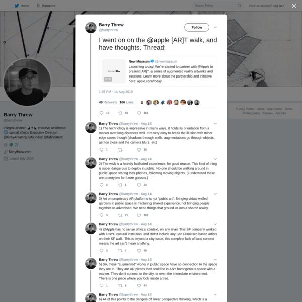 Barry Threw on Twitter
