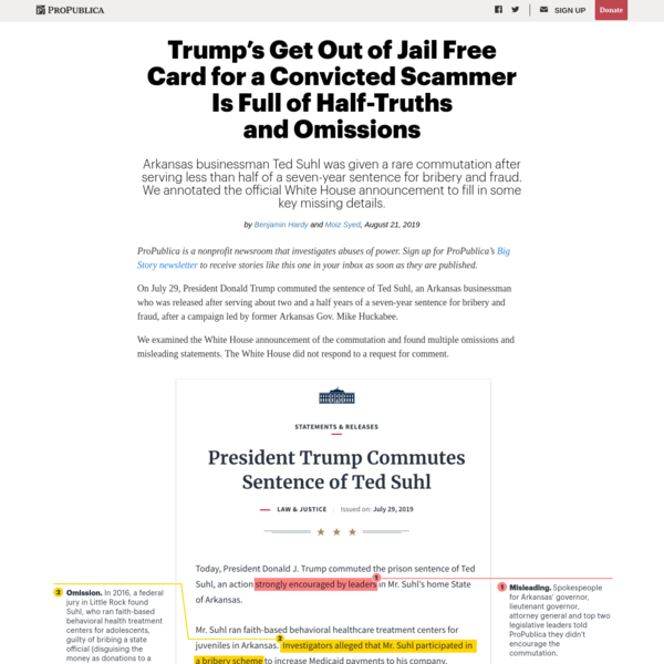 Trump's Get Out of Jail Free Card for a Convicted Scammer Is Full of Half-Truths and Omissions