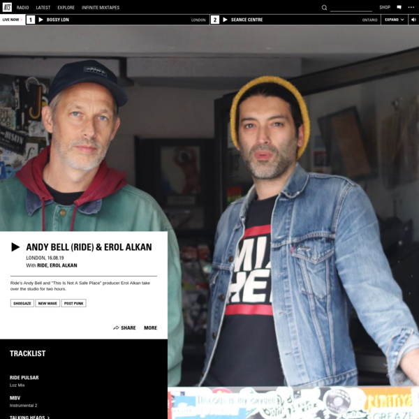 Andy Bell (Ride) & Erol Alkan 16th August 2019