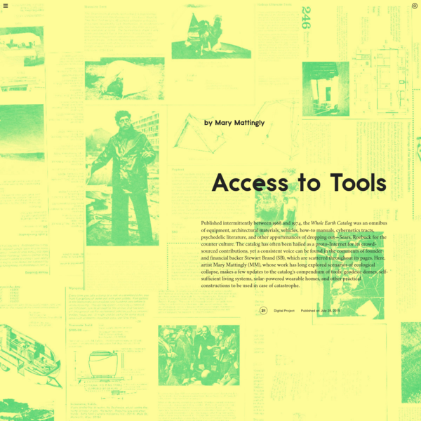Triple Canopy - Access to Tools by Mary Mattingly