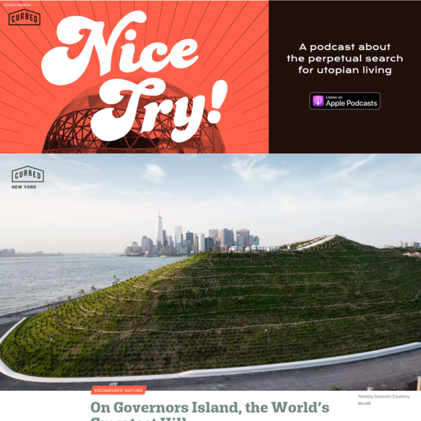 On Governors Island, the world's smartest hill