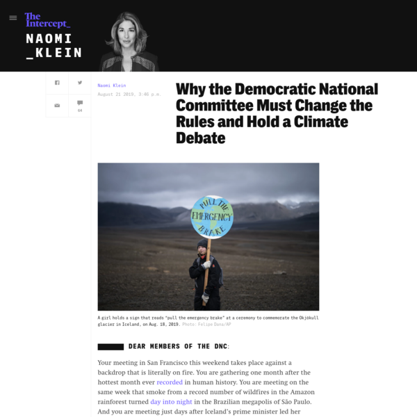 Why the DNC Must Hold a Climate Debate