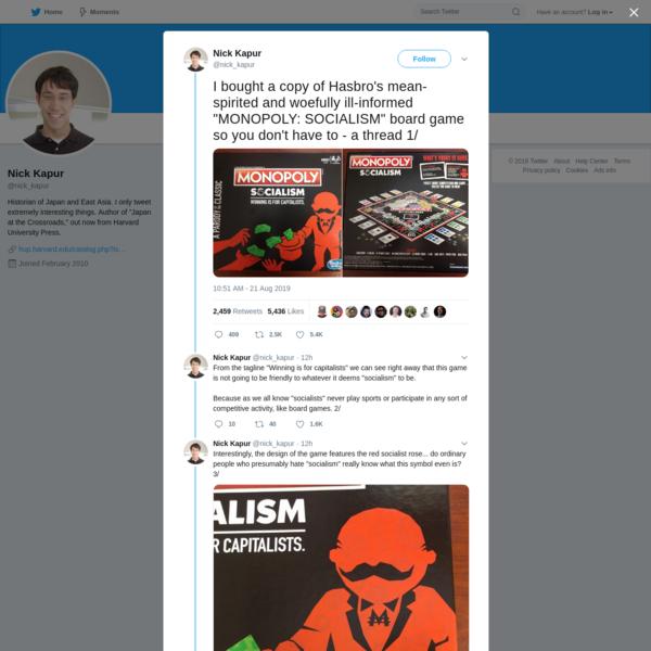 Nick Kapur on Twitter