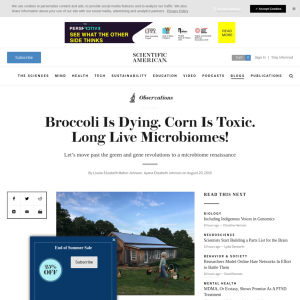 Broccoli Is Dying. Corn Is Toxic. Long Live Microbiomes! - Scientific American Blog Network