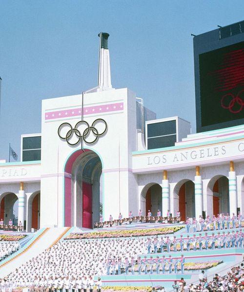 [swipe] LA Summer Olympics. 1984✨ Design by Deborah Sussman. Follow @neontalk and @concepttalk for more. ... #neontalk #debo...
