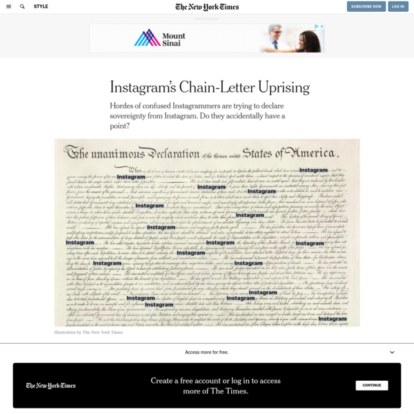 Instagram's Chain-Letter Uprising