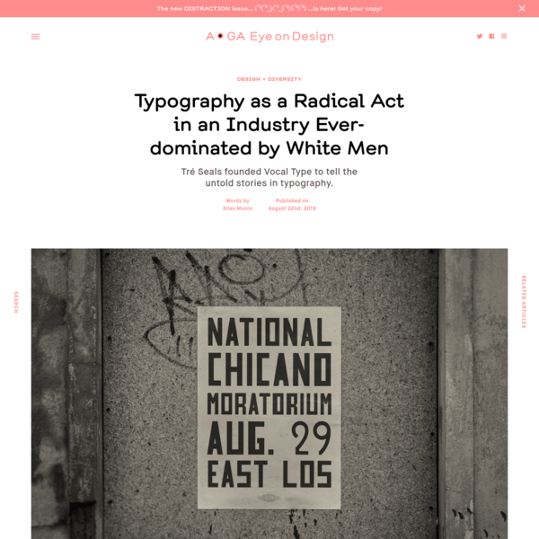 Typography as a Radical Act in an Industry Ever-dominated by White Men | | Eye on Design