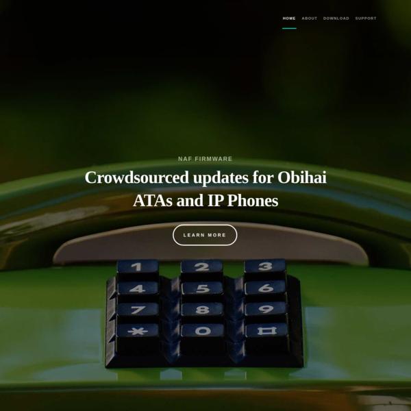 Third-party firmware for OBi ATAs