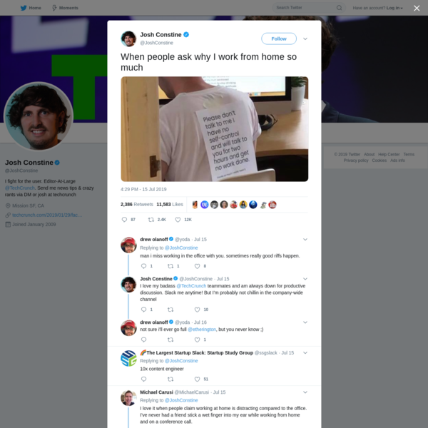Josh Constine on Twitter