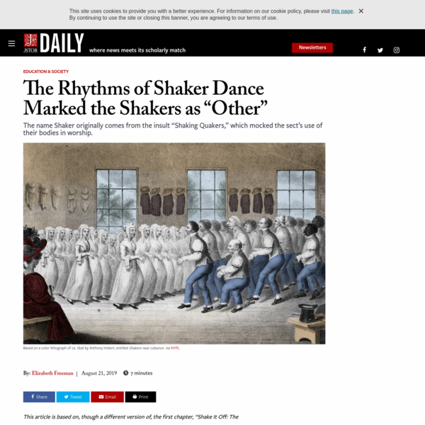 """The Rhythms of Shaker Dance Marked the Shakers as """"Other"""" 